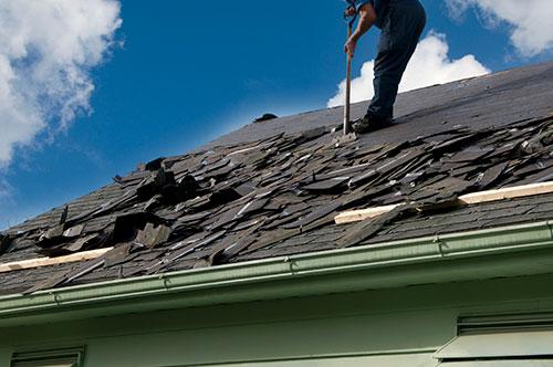 Roofing job dumpster for rent
